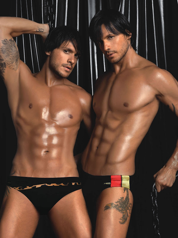 Playgirl twins models